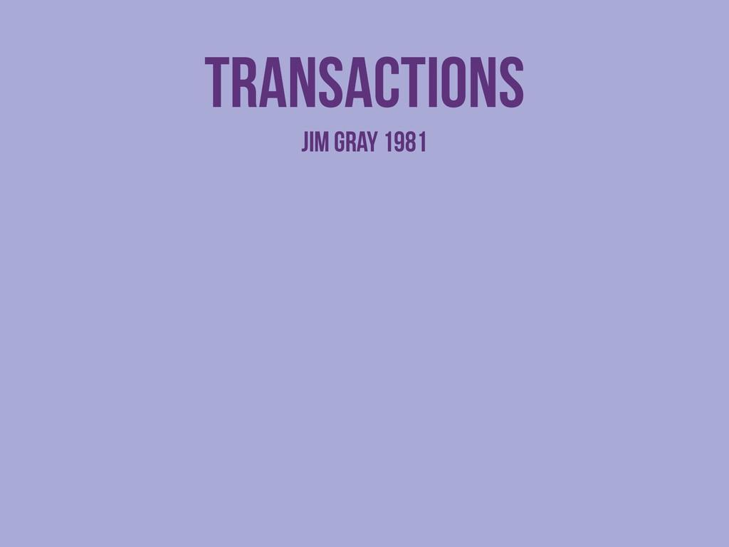 transactions Jim Gray 1981