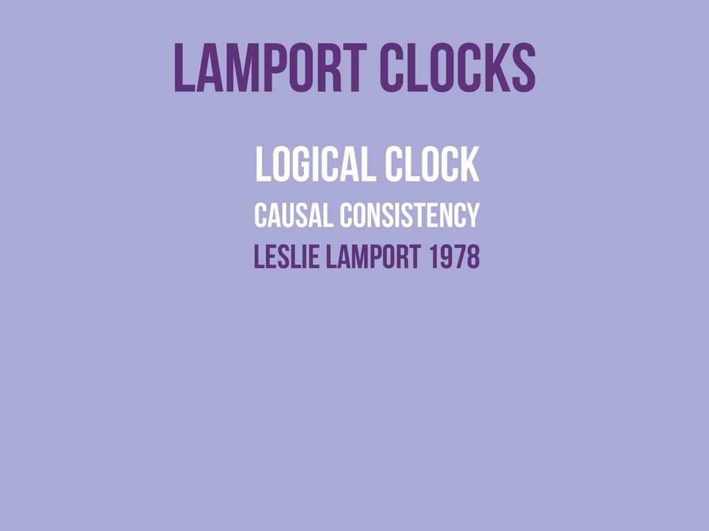 lamport clocks logical clock causal consistency...