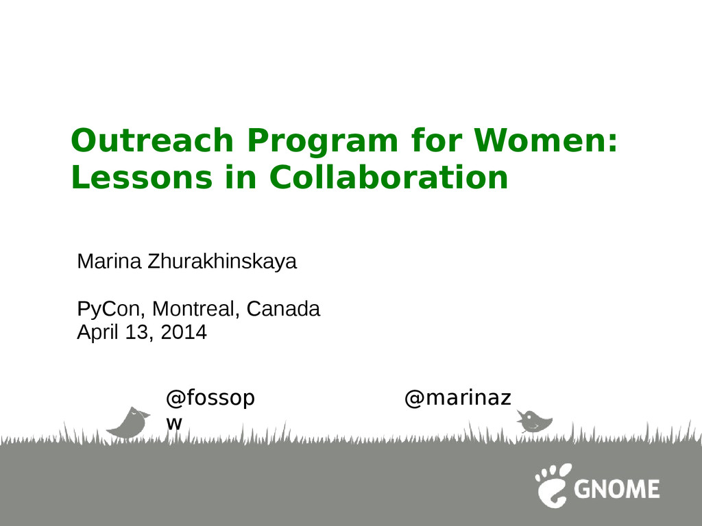 Outreach Program for Women: Lessons in Collabor...