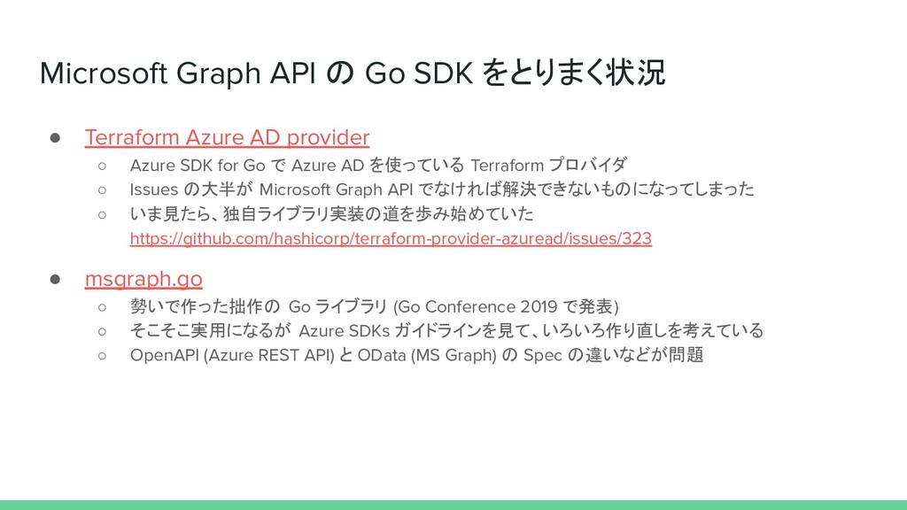 Microsoft Graph API の Go SDK をとりまく状況 ● Terrafor...
