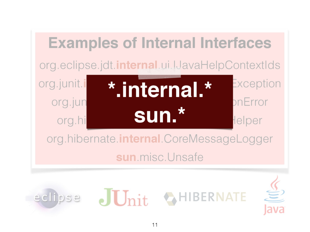 Examples of Internal Interfaces org.eclipse.jdt...