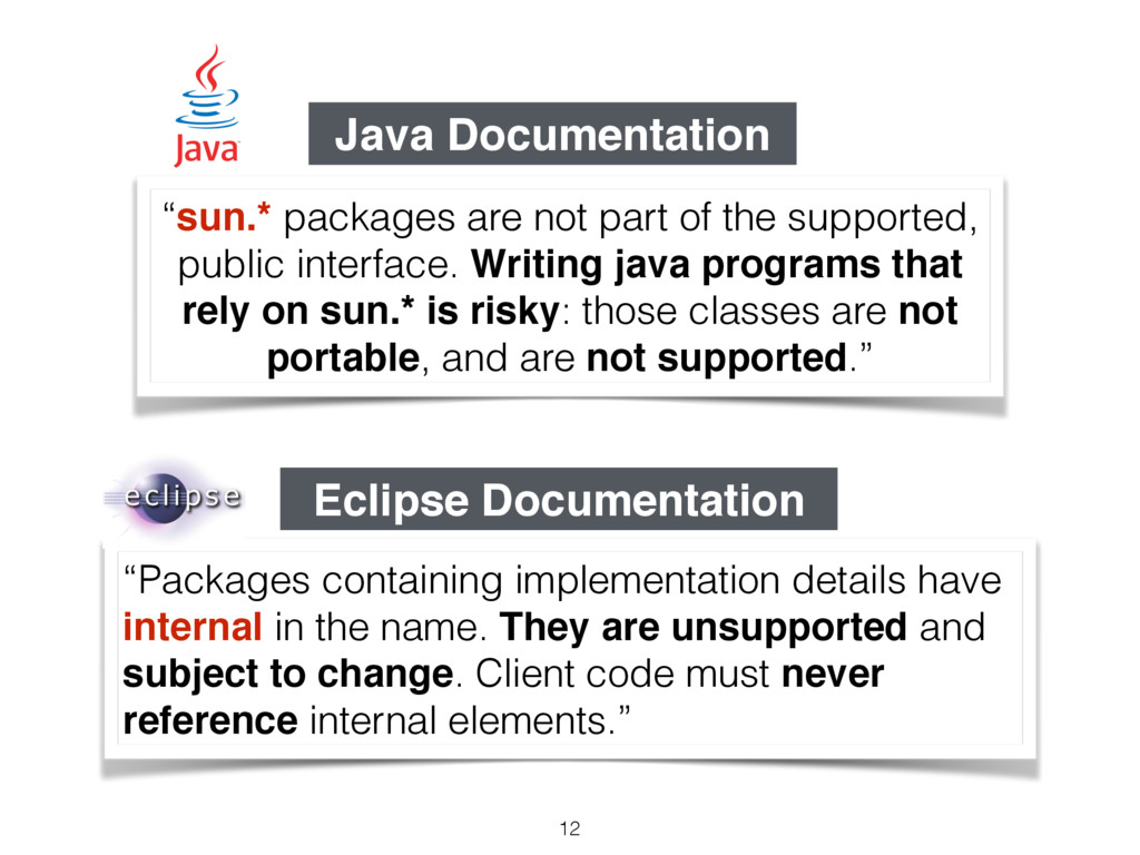 """Packages containing implementation details hav..."