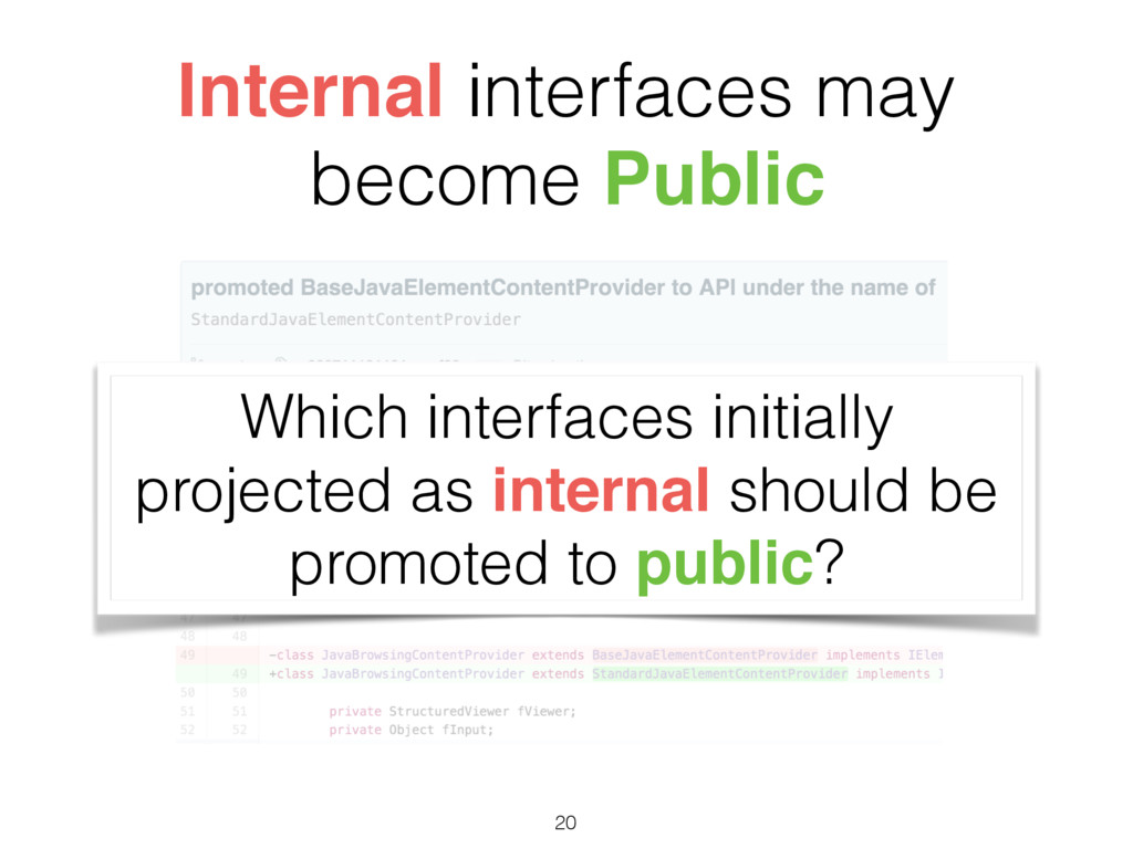 Internal interfaces may become Public Which int...
