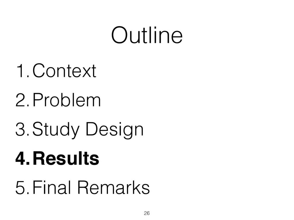 Outline 1.Context 2.Problem 3.Study Design 4.Re...