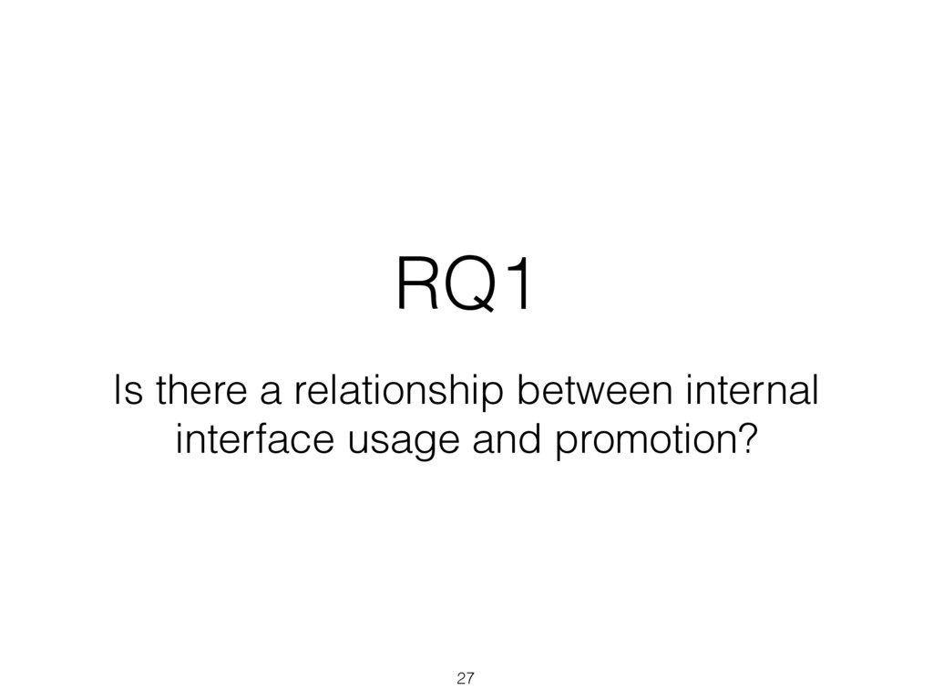 RQ1 Is there a relationship between internal in...