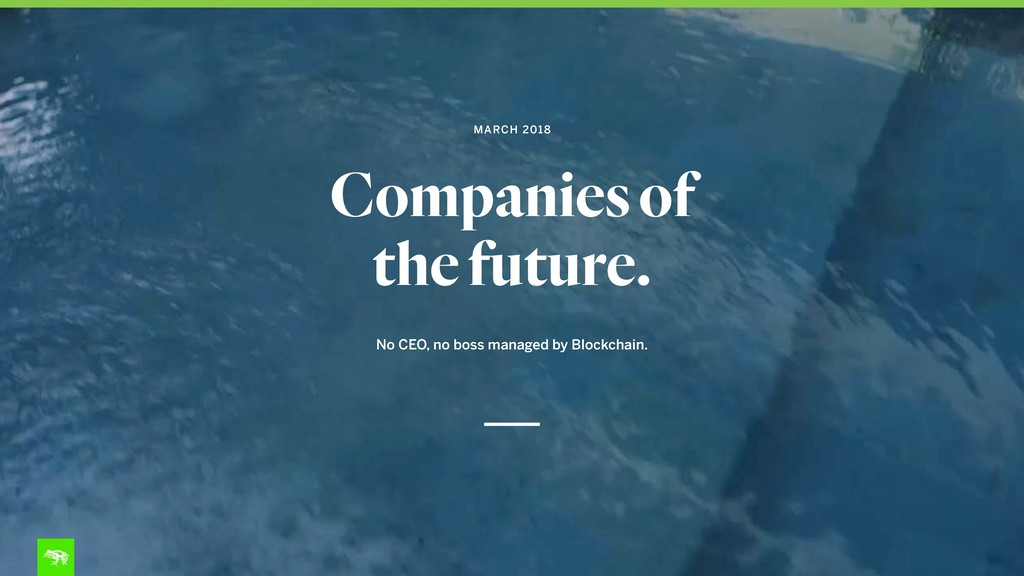 Companies of the future. No CEO, no boss manage...