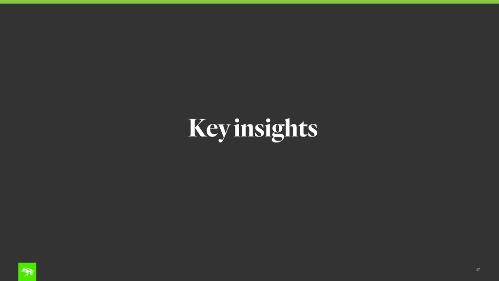 57 Key insights