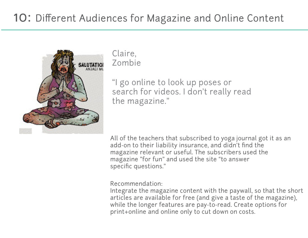 10: Different Audiences for Magazine and Online ...