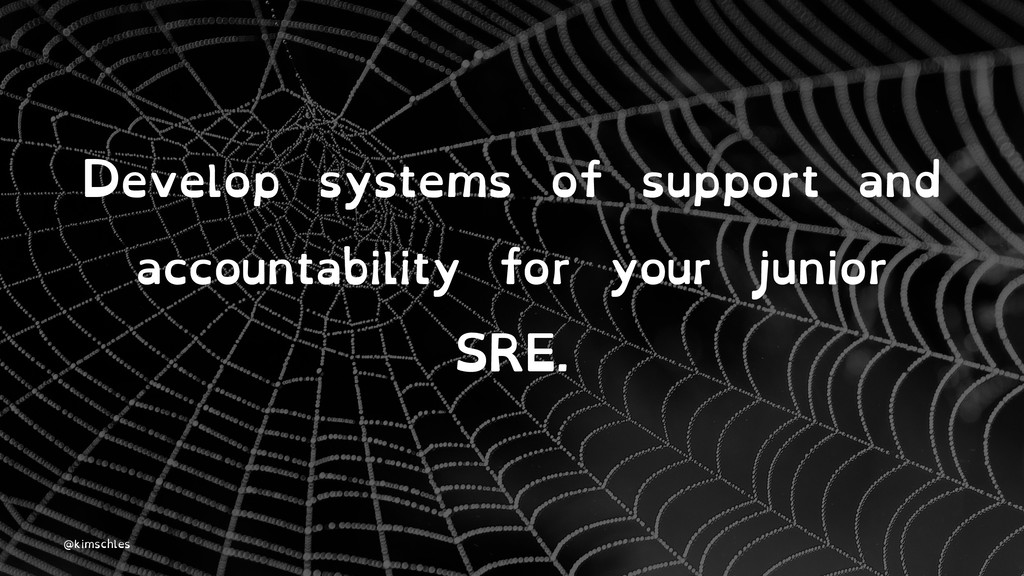 Develop systems of support and accountability f...