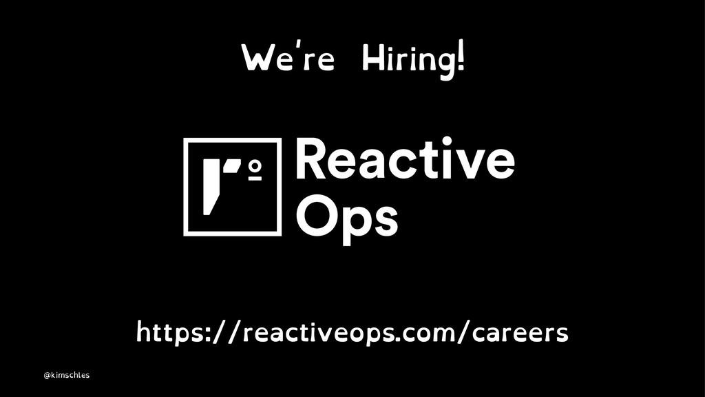 We're Hiring! https://reactiveops.com/careers @...