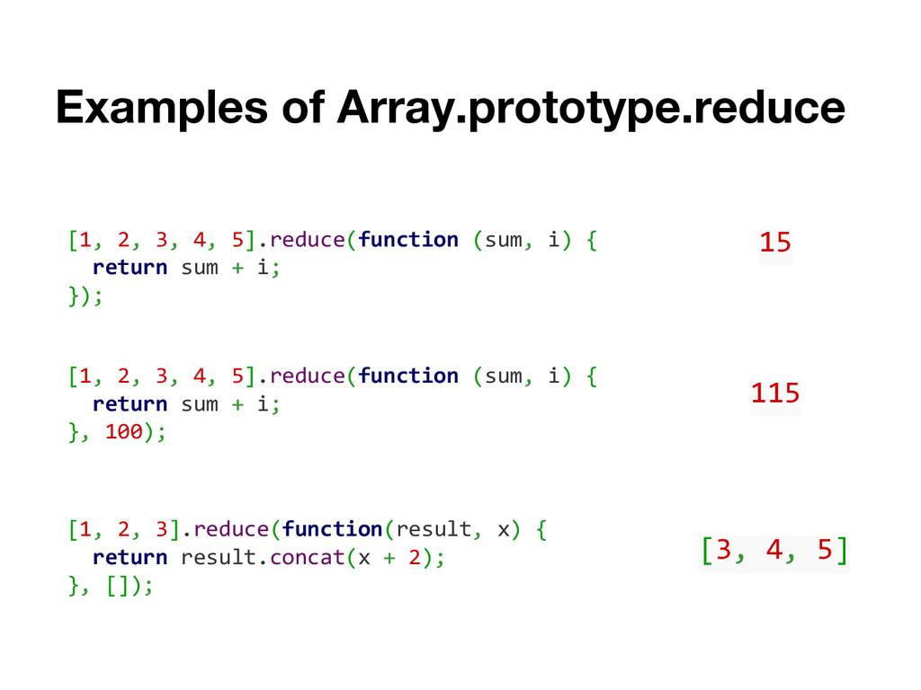 Examples of Array.prototype.reduce [1, 2, 3, 4,...