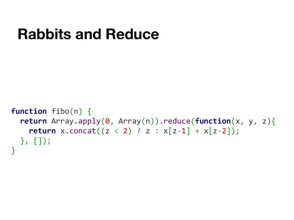 Rabbits and Reduce function fibo(n) { return Ar...