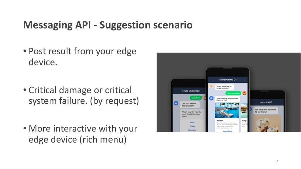 Messaging API - Suggestion scenario • Post resu...