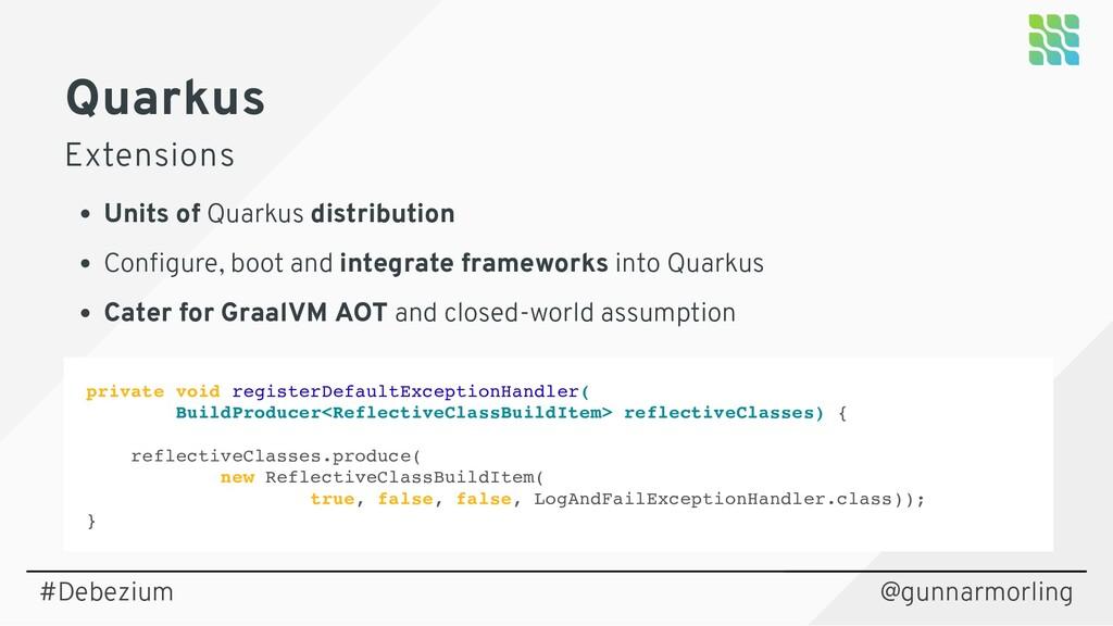 Quarkus Extensions Units of Quarkus distributio...