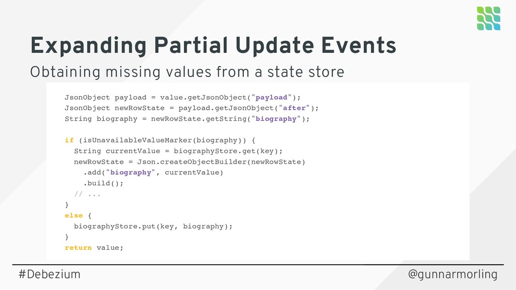 Expanding Partial Update Events Obtaining missi...