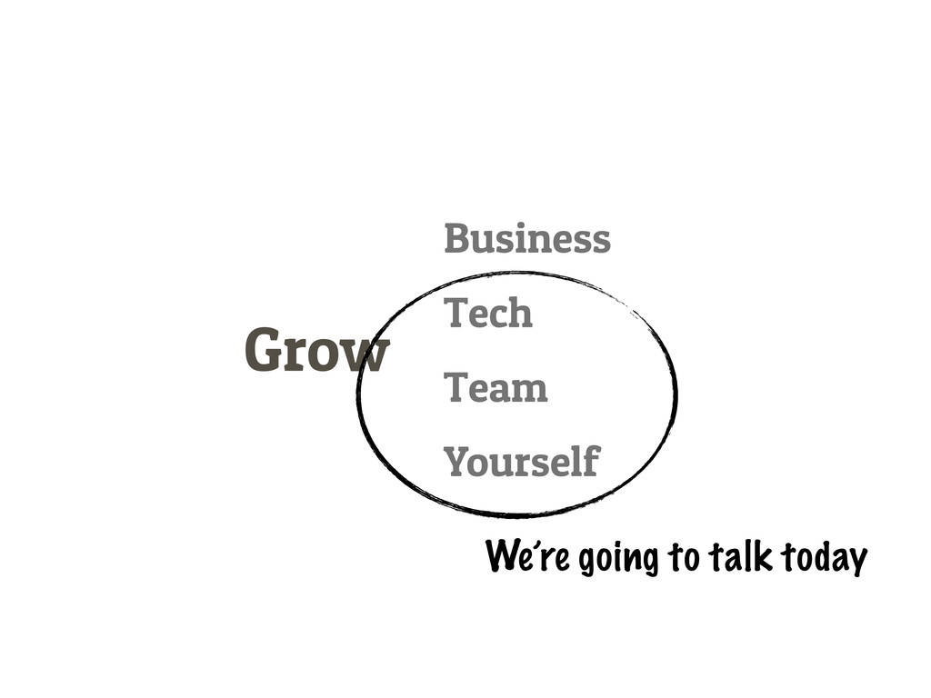 Grow Business Tech Team Yourself We're going to...