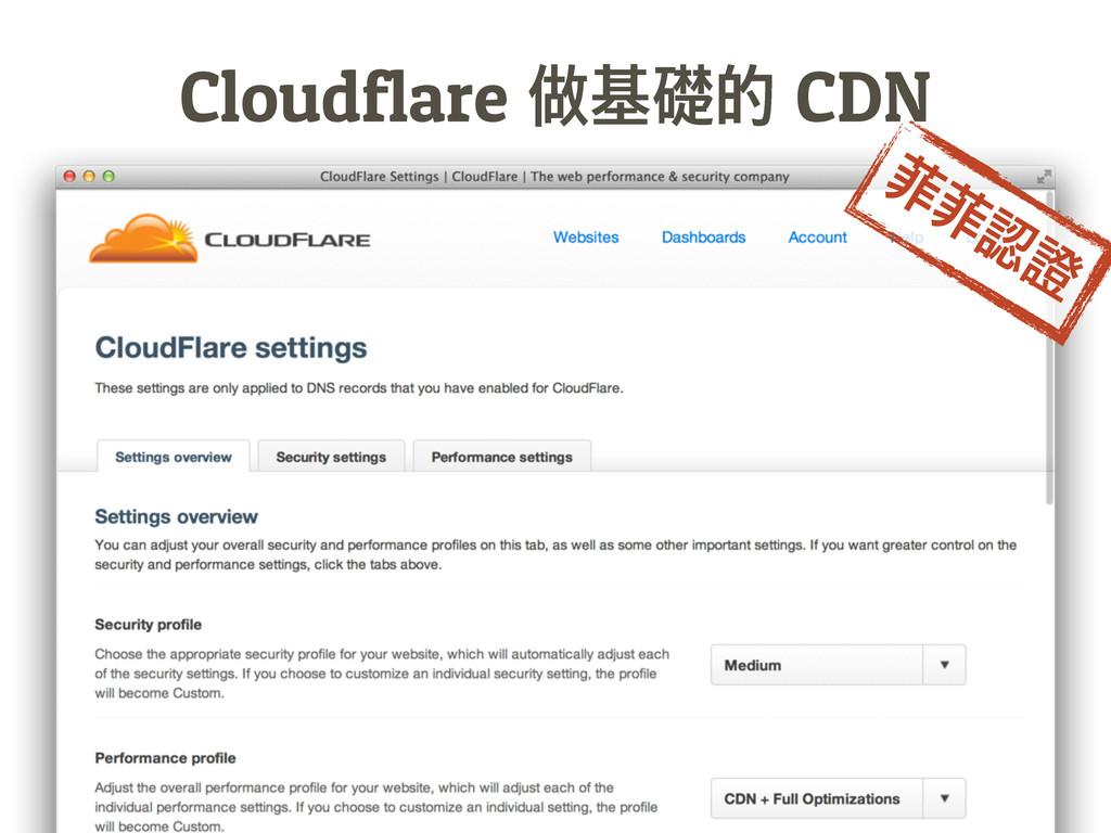 Cloudflare᰼᧣CDN ᑝᑝ᤹ᬜ