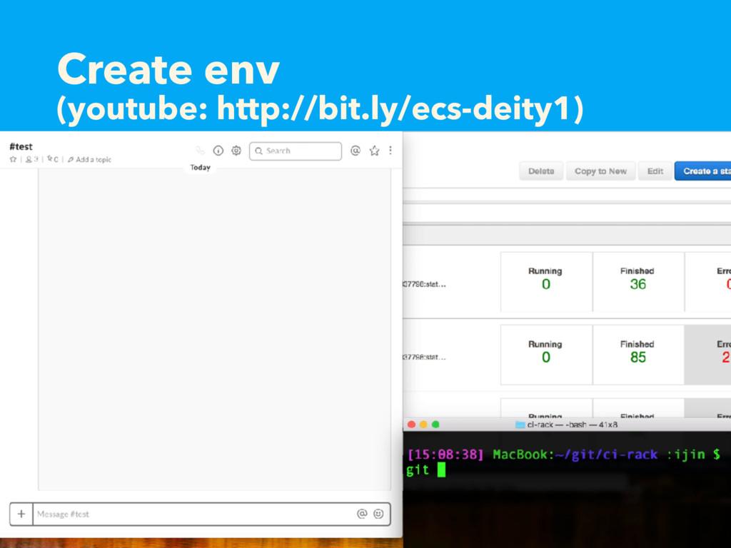Create env (youtube: http://bit.ly/ecs-deity1)