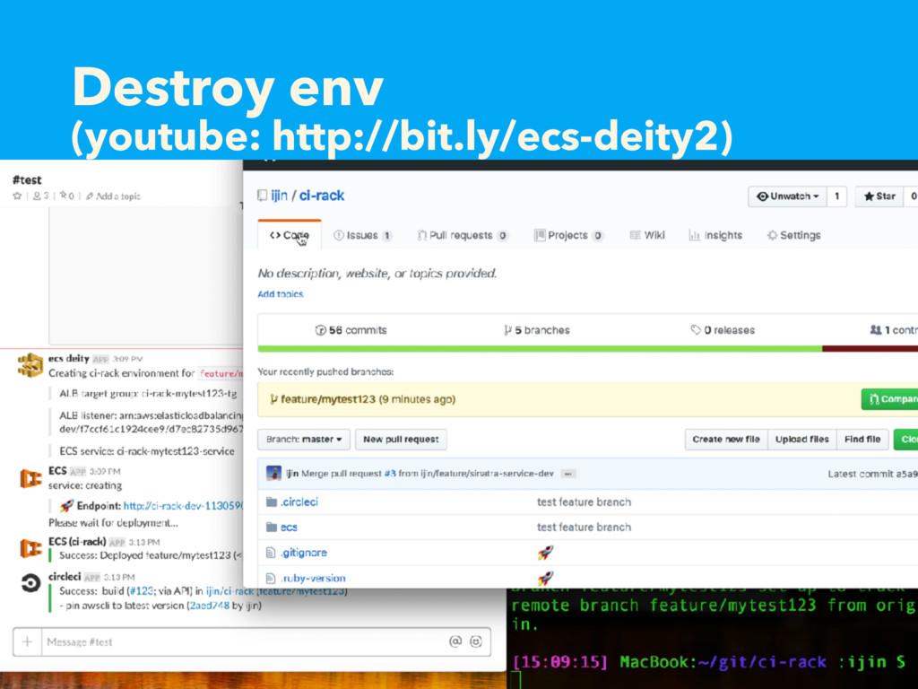 Destroy env (youtube: http://bit.ly/ecs-deity2)