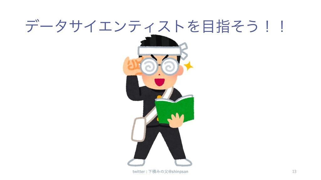 σʔλαΠΤϯςΟετΛࢦͦ͏ʂʂ twitter : 下積みの⽗@shinpsan 13