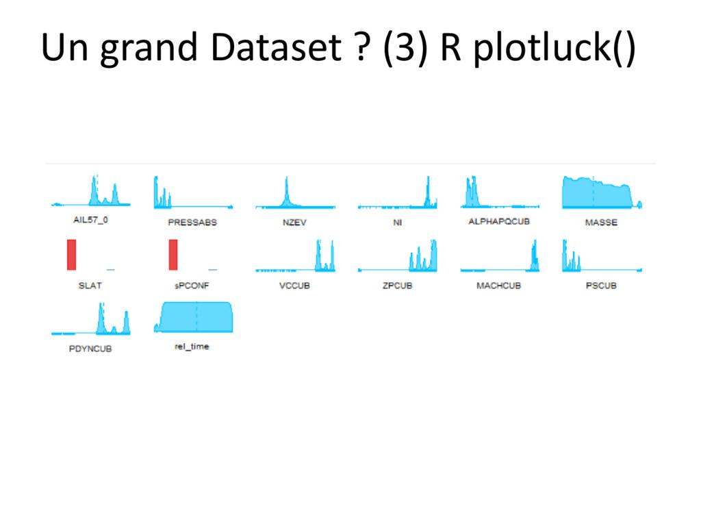 Un grand Dataset ? (3) R plotluck()
