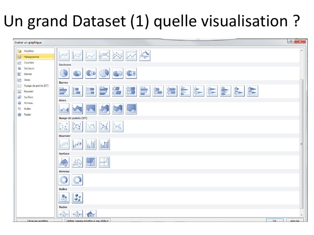 Un grand Dataset (1) quelle visualisation ?