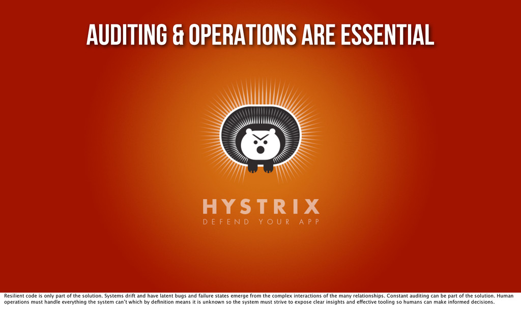 Auditing & Operations are Essential Resilient c...