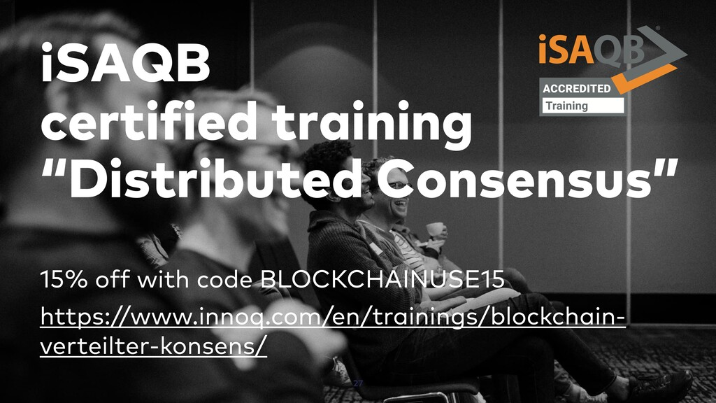 "iSAQB certified training ""Distributed Consensus..."