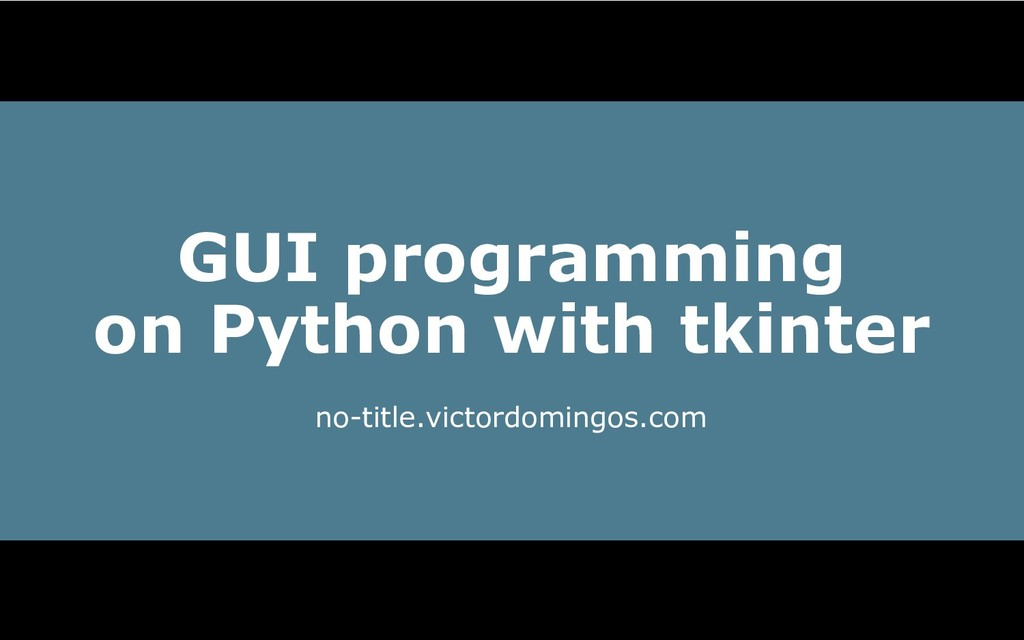 GUI programming on Python with tkinter no­title...