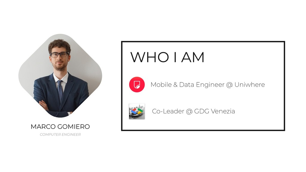 WHO I AM Mobile & Data Engineer @ Uniwhere MARC...