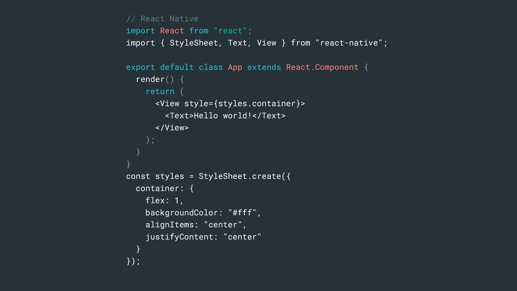 """// React Native import React from """"react""""; impo..."""