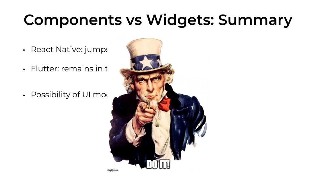 Components vs Widgets: Summary • React Native: ...