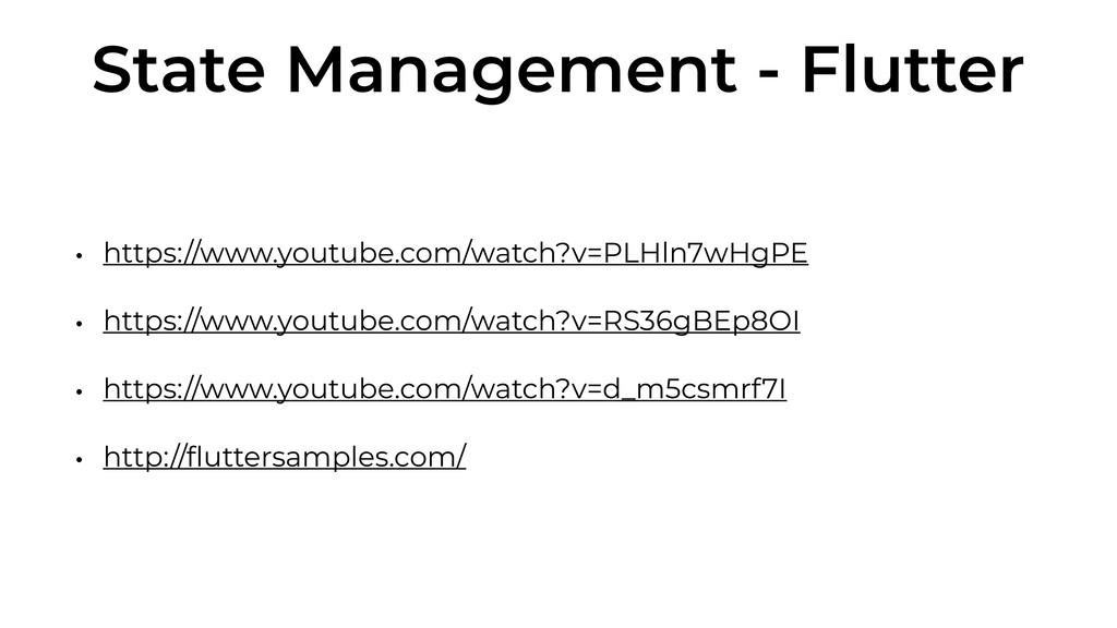 State Management - Flutter • https://www.youtub...