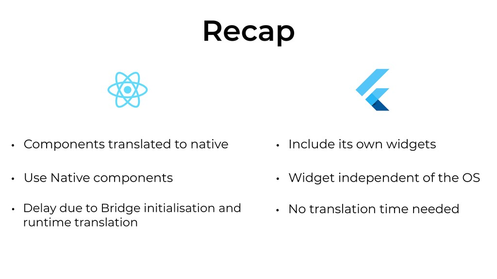 Recap • Components translated to native • Use N...
