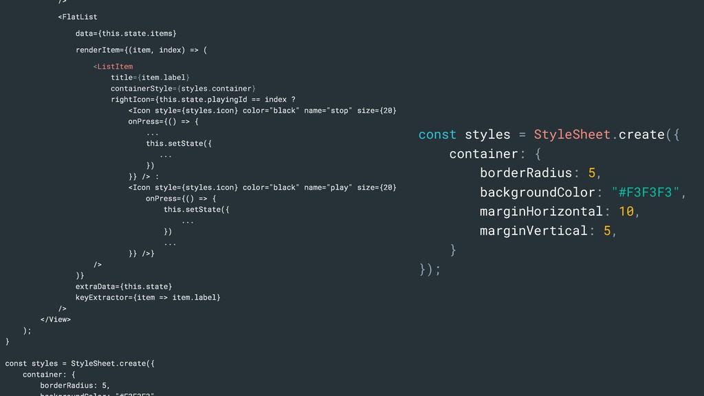 /> <FlatList data={this.state.items} renderItem...