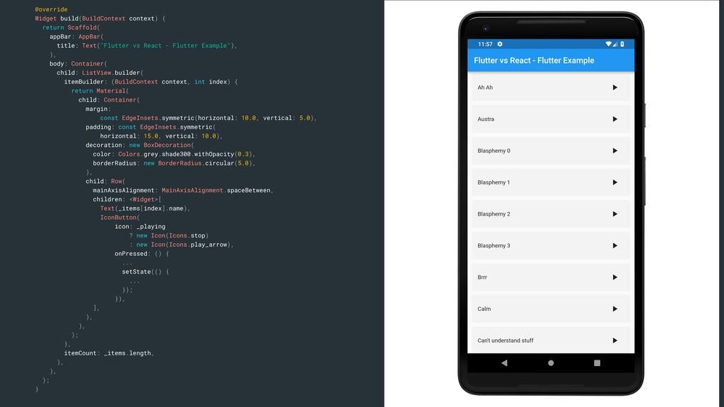 @override Widget build(BuildContext context) { ...