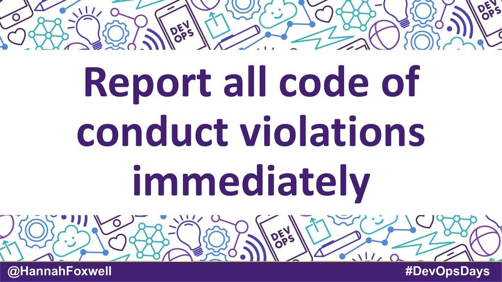 @HannahFoxwell #DevOpsDays Report all code of c...