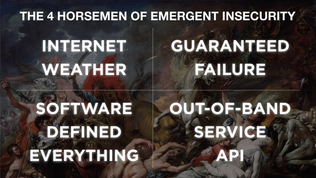 THE 4 HORSEMEN OF EMERGENT INSECURITY INTERNET ...