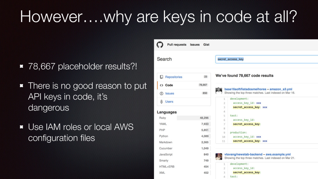 However….why are keys in code at all? 78,667 pl...