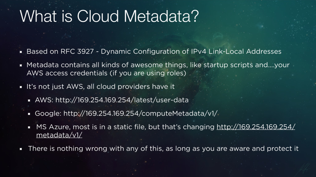 What is Cloud Metadata? Based on RFC 3927 - Dyn...