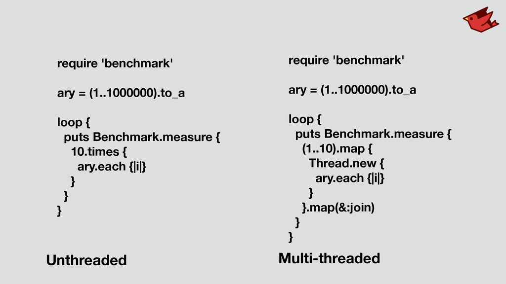require 'benchmark' ary = (1..1000000).to_a loo...