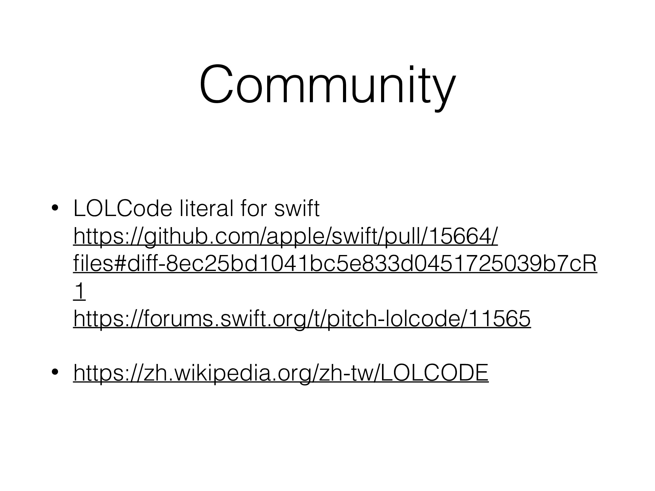 Community • LOLCode literal for swift  https:/...