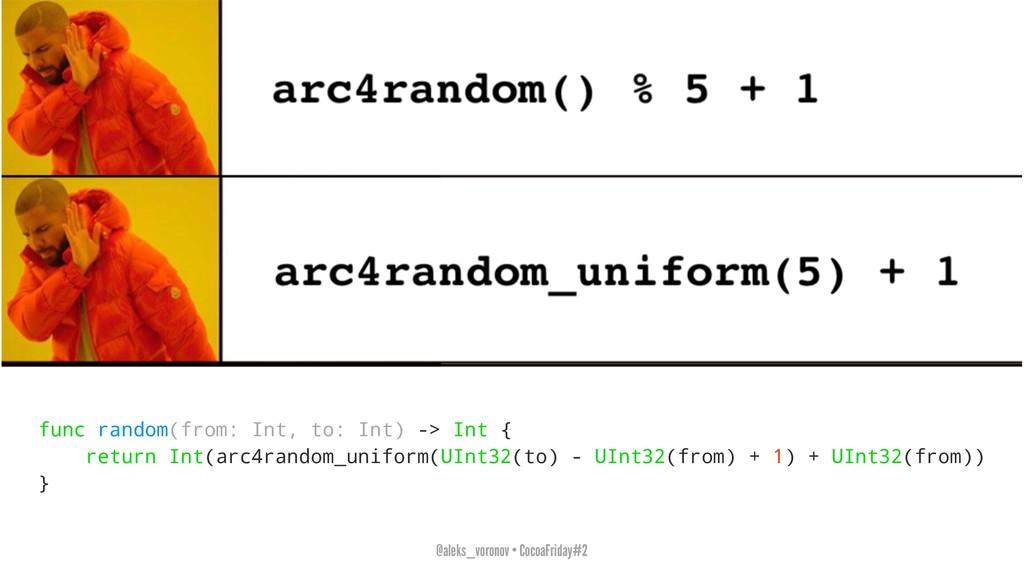 func random(from: Int, to: Int) -> Int { return...
