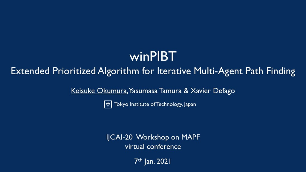 winPIBT Extended Prioritized Algorithm for Iter...