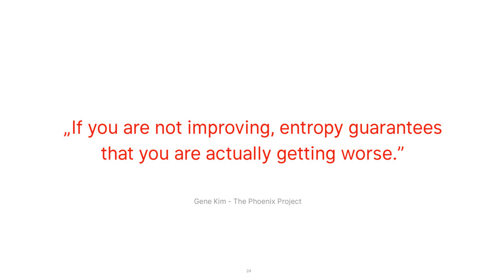 """If you are not improving, entropy guarantees t..."