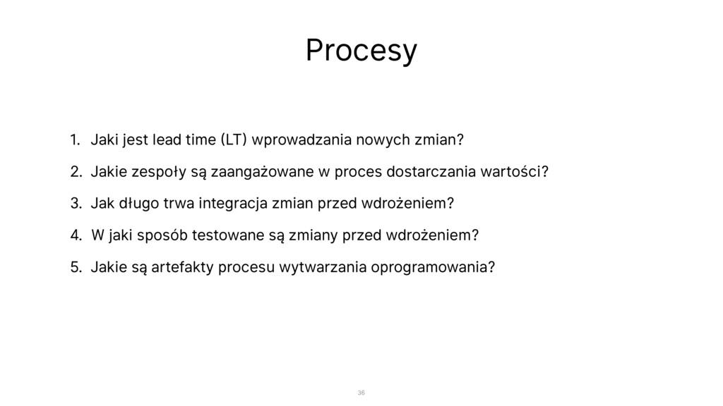 Procesy 1. Jaki jest lead time (LT) wprowadzani...