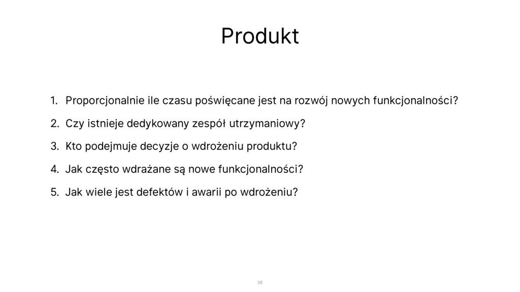 Produkt 1. Proporcjonalnie ile czasu poświęcane...