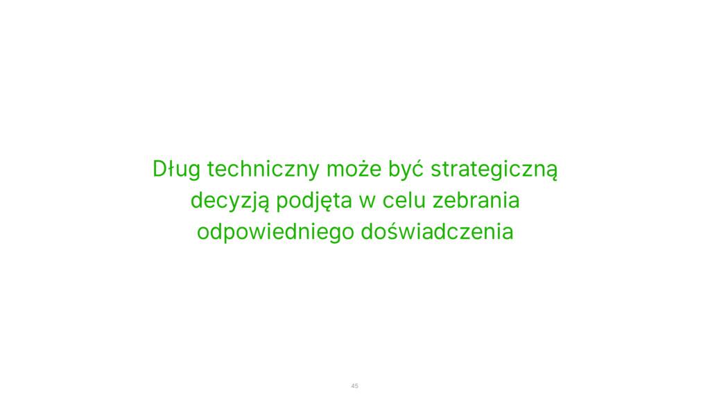 Dług techniczny może być strategiczną decyzją p...