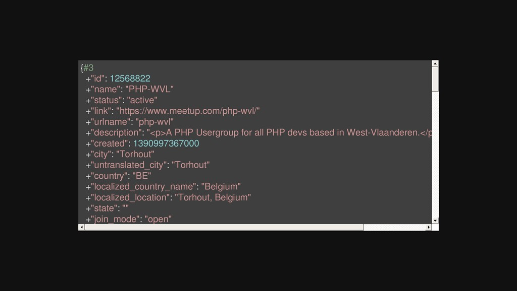 "{#3 +""id"": 12568822 +""name"": ""PHP-WVL"" +""status..."