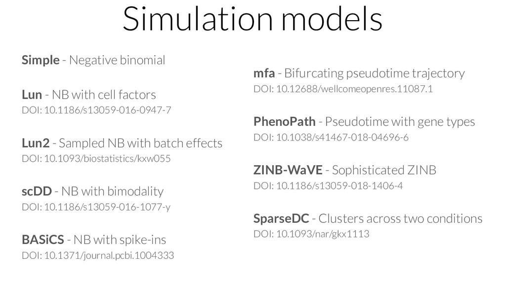 Simulation models Simple - Negative binomial Lu...